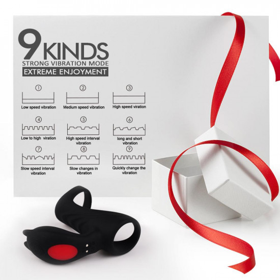 hi fun - remote controlled vibrating penis ring for couples